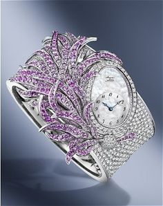 """Queen of Naples"" 360 pink sapphires and diamonds Breguet watch breguet watches here http://www.shop.com/sophjazzmedia/hJewelry-~~Breguet-g5-k30-internalsearch+260.xhtml 