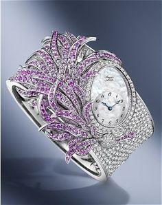 """Queen of Naples"" 360 pink sapphires and diamonds Breguet watch breguet watches…"