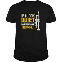 Awesome Tee Quiet Trumpet TShirt Brass Music Marching Band PicksPlace T shirts