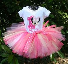Minnie Mouse tutu! I love this for my baby girls 1st birthday!