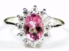 Pink topaz approximate stone size 8x6mm approximate stone weight