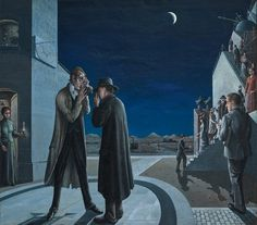 Collectie Boijmans | Les phases de la lune III (De maanstanden III) - Paul Delvaux