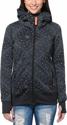 Billabong Girls Walk Me Down Black Tech Fleece Jacket at Zumiez : PDP