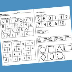 These assessment forms for Pre-K can be used to record children's progress as you work with them during learning activities or observing them through play. Find more assessment ideas on the Assessment Resource Page Terms Assessment For Learning Strategies, Preschool Assessment Forms, Letter Assessment, Student Self Assessment, Writing Assessment, Formative Assessment, Career Assessment, Neurological Assessment, Teaching Strategies Gold