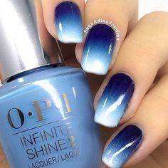 Farbverlauf Nägel / / blau Ombré Nail Design / / dunkelblau bis weiß – Nageldesign, You can collect images you discovered organize them, add your own ideas to your collections and share with other people. Ombre Nail Designs, Winter Nail Designs, Nail Art Designs, Nails Design, Navy Blue Nail Designs, Salon Design, Blue Ombre Nails, Gradient Nails, Acrylic Nails