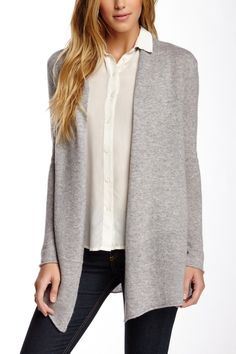 Can throw on this grey sweater with anything.