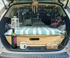 Car camping honda fit road trips new ideas Auto Camping, Minivan Camping, Truck Camping, Beach Camping, Family Camping, Family Cars, Outdoor Camping, Pickup Camping, Camping Accessories
