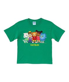 Look at this Green Daniel Tiger Personalized Tee - Toddler & Kids on #zulily today!