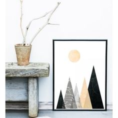 Geometric Graphic Scene Art Print - from My Haus UK