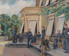 Officers' Mess at Shopwhyke House by Olive Constance Snell (1942)