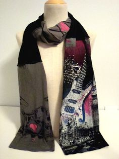 TSHIRT SCARF REPURPOSED Clothing by iFoundJoy on Etsy, $30.00