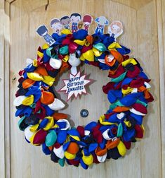 Surprise your birthday kid with a balloon wreath when they come home from school. | 21 Ways To Make Your Kid's Birthday Extra Special
