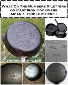 Numbers and Letters on Cast Iron and What They Mean