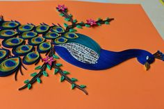 Handmade Paper Quilling Wall art Peacock by NethraCreations on Etsy