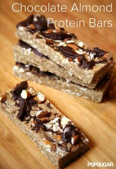 Chocolate Almond Protein Bars - Food by Marry Anne | See more about chocolate almonds, protein bars and protein.