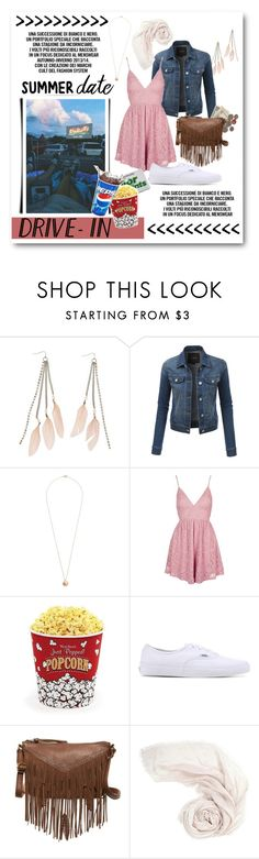 """Summer Date: Drive-In"" by lalalaballa22 on Polyvore featuring Charlotte Russe, LE3NO, Dorothy Perkins, Topshop, West Bend, Vans, T-shirt & Jeans, DateNight, drivein and summerdate"