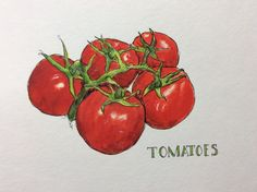 KjAllison tomatoes  in Delicious Paint with Tracey Fletcher King
