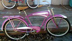 vintage schwinn pink bike