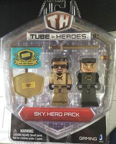 "Tube Heroes Sky Hero Pack 3"" Character Figures The Sky Army Toy Game Jazwares   eBay"