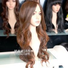 Princess Belle Long Curly With brownCospaly Full wig Costume no lace Natural Kanekalon Hair wigs Free Shipping-in Synthetic Wigs from Health & Beauty on Aliexpress.com   Alibaba Group
