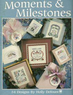 Moments & Milestones Special Occasions Cross Stitch Patterns 54 designs #LeisureArts #Sampler
