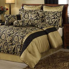 @Overstock - Accent any bedroom decor with this comforter set.  This bedding ensemble features rich colors and a floral design.  http://www.overstock.com/Bedding-Bath/Barrington-8-piece-Comforter-Set/5597375/product.html?CID=214117 $77.99
