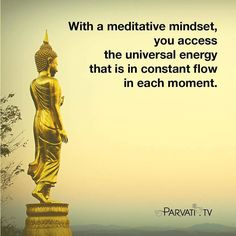 With the bigger picture of a meditative mindset we naturally relax because we have trust in a power far greater than our ego or will. We access the universal energy that is in constant flow in each moment. Our mind broadens. We have more insight into any challenges we may be facing. We see opportunities in problems. We feel confident in the outcome however it may unfold. A meditative mindset is different from wishful thinking or being disassociated with problems at hand. In wishful…