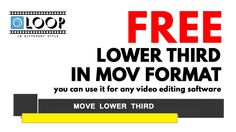 Free Move Lower Third Templates in mov Format