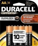 Duracell® - AA Batteries (8-Pack), Black