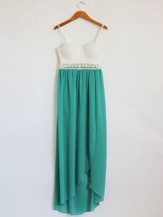 Bustier lace jade dress . <3