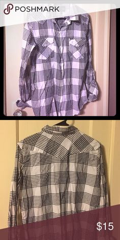 Hurley button down Black and white striped button down. This is men's however I would wear this with a pair of jean shorts and loved the look! Hurley Tops Button Down Shirts