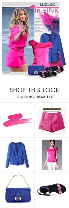 Casual In Pink by beebeely-look on Polyvore featuring Fendi, Jennifer Lopez, StreetStyle, summertime, springsummer, springfashion and lucluc