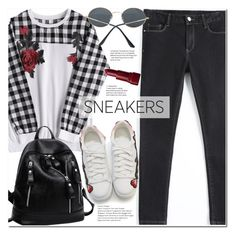"""""""So Fresh: White Sneakers"""" by duma-duma ❤ liked on Polyvore featuring Bobbi Brown Cosmetics and whitesneakers"""