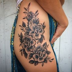 """191 Likes, 22 Comments - Michelle Rubano (@michellerubano) on Instagram: """"Finished this one today. #michellerubano #fullcircletattoo @fullcircletattoo #rosetattoo #rosas…"""""""