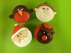 3d Christmas cupcakes