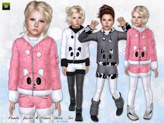 Cute panda jacket for your child girls. Found in TSR Category 'Sims 3 Female Clothing' Sims 3 Mods, Sims Cc, Sims 4 Clothing, Female Clothing, Clothing Sets, Kids Outfits Girls, Toddler Outfits, Sims Packs, Kids Winter Jackets