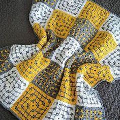 Freeform Crochet, Tunisian Crochet, Crochet Stitches, Baby Knitting, Crochet Baby, Knit Crochet, Crochet Squares, Crochet Blanket Patterns, Etsy Quilts