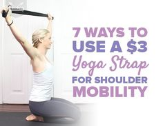 Use a simple yoga strap to regain mobility in your shoulders with these seven easy stretches. These are great for both beginner and intermediate levels. Yoga Shoulder, Shoulder Stretches, Yoga Sequences, Yoga Poses, Yoga Hammock, Everyday Workout, Gentle Yoga, Yoga Strap, Simple Yoga