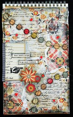 Today I'm in a soulful mood and inspired to make some art. How about some art journal pages? Great idea, great start of the day, any day. Actually, I make