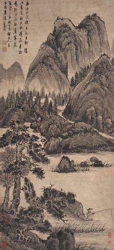 Wu Zhen: Fishing Alone | Chinese Painting | China Online Museum
