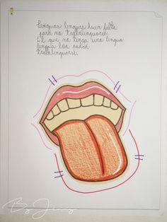 """Hoja de Trabalenguas: """"Lenguas lenguas hacen falta"""" con Ilustración. Más fotografías dando clic a la imagen. Blade"""