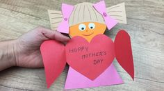 Mother's day cute craft for kids to do at home or kindergarten.