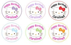 Personalized Hello Kitty Sticker by ClassyAndSimple on Etsy, $4.00