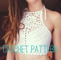 NOVEMBER SALE  Crochet Pattern  Zinnia Crochet Crop Top by OfMars