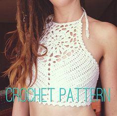 Crochet Pattern  Zinnia Crochet Crop Top by OfMars on Etsy