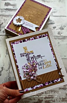 Independent UK Stampin' Up! Demonstrator Bibi Cameron: Blessed by God Stampin Up ♥ easy book box tutorial