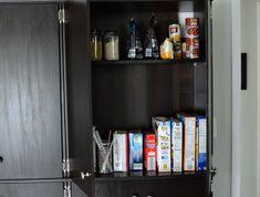 Turn a generic bookshelf into a pantry