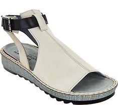 Naot Leather Mule Sandals - Verbena