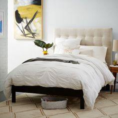 Simple Bed Frame, Queen, Chocolate-Stained Veneer - West Elm