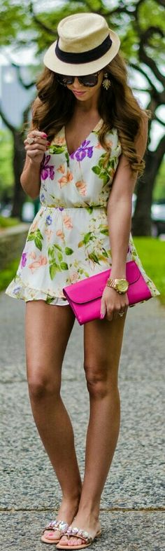 Floral Romper / For the Love of Fancy